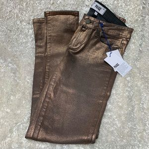 NWT! PAIGE Rose gold skinny jeans